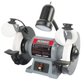 "King Industrial KC-895LS 8"" Low Speed Bench Grinder With Light"