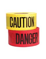 COM-CT3RE8  Red Danger Barricade Tape