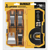 Dewalt DWA4216  Oscillating 5-Piece 2 Wood with Nail Blades, 1 Fast Cut Wood Blade, 1 Rigid Scraper Blade, 1 Titanium Flush Cut Blade