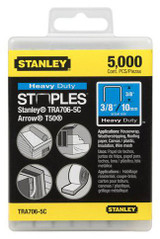 Stanley Hand Tools ST-TRA706-5C  5000-Quantity 3/8-Inch Leg 3/8-Inch Crown .050-Inch x.022-Inch Gauge Heavy Duty Staples