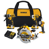 DeWALT DCK483D2  20V MAX XR 4-Tool Brushless Compact Combo Kit with 2x 2.0Ah Batteries