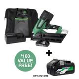 Metabo-HPT HPT-NR1890DCM 30-34 Degree Cordless Framing Nailer 3.0Ah Kit - Green Lightning +BONUS 36V/18V Battery 4.0Ah/8.0Ah