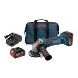Bosch GWS18V-45-01  18V 4-1/2 In. Angle Grinder Kit with 2x 4.0Ah Batteries
