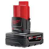 Milwaukee 48-11-2460 M12 REDLITHIUM XC6.0 Extended Capacity Battery Pack