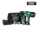 Metabo-HPT HIT-NT1865DMA 2-1/2-Inch 18-V Cordless Lithium Ion Brushless 15 Gauge Angled Finish Nailer