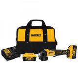 "DeWALT DCG413R2 4.5"" 20V MAX Brushless Paddle Switch Angle Grinder Kit With Kickback Brake  - 2x 6.0Ah Kit"