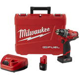 "Milwaukee 2504-22  M12 FUEL 1/2"" Hammer Drill Kit"