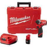 "Milwaukee 2553-22 M12 FUEL Gen 2 - 1/4"" Hex Impact Driver Kit"