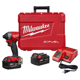 "Milwaukee 2853-22  M18 GEN 3 FUEL 1/4"" Hex Impact Driver 5amp Kit"