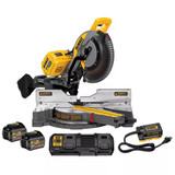 "DeWALT DHS790AT2  12"" 120V MAX Double Bevel Compound Sliding Miter Saw Kit (2 x 60V 6.0Ah batteries & Dual Port Fast Charger) Hybrid Power supply"