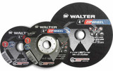 "WALTER SURFACE TECHNOLOGIES WAL-08C450 1/4'' Allsteel Grinding Wheel 4-1/2"" x 1/4"" x 7/8 Type 27"