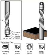 """Dimar DIM-SCB812  1/2"""" Carbide Up-Spiral Flush Trim"""
