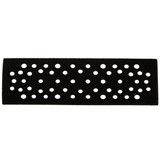 "Mirka MIR-9138 2.75"" X 7.75"" X 1/8"" Multi-Hole Grip Faced Pad Protector"