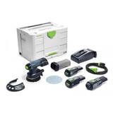 """Festool FES-575716 ETSC 125 18V Brushless Hybrid Cordless 5"""" Sander Bluetooth 3.1Ah SET"""