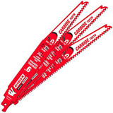 """Freud FRE-DS0909CGP3C Diablo 9"""" Carbide Tipped General Purpose Reciprocating Blade 9-6 TPI (3/32""""-1/4"""") (3 Pack)"""