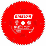 Freud FRE-D1280X Diablo 12-Inch 80 Tooth ATB Crosscutting Saw Blade with 1-Inch Arbor