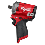 "Milwaukee 2555P-20 M12 FUEL 1/2"" Stubby Impact Wrench w/ Pin Detent"