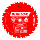Freud FRE-D0724A Diablo 7-1/4-Inch 24 Tooth ATB Framing Saw Blade with 5/8-Inch and Diamond Knockout Arbor
