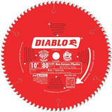Freud FRE-D1080N Diablo 10-Inch 80 Tooth TCG Non-Ferrous Metal and Plastic Cutting Saw Blade with 5/8-Inch Arbor and PermaShield Coating