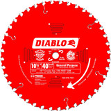 Freud FRE-D1040W Diablo 10-1/4-Inch 40 Tooth ATB General Purpose Saw Blade with 5/8-Inch and Diamond Knockout Arbor