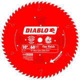 Freud FRE-D1060X Diablo 10-Inch 60 Tooth ATB Fine Finish Saw Blade with 5/8-Inch Arbor and PermaShield Coating