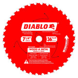 Freud FRE-D0736GPA Diablo 7‑1/4″ x 36T Wood & Metal Carbide Saw Blade