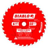 Freud FRE-D0632GPA Diablo 6-1/2 in. x 32 Tooth Wood & Metal Carbide Saw Blade - Diablo D0632GPA