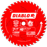 "Freud FRE-D0740A 7-1/4"" X 40T Fine Finish Saw Blade"