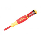 Wiha WIHA-28394 Insulated 6-in-1 Ultra Driver SlimLine Slotted Phillips Square Blades 7 Piece Set