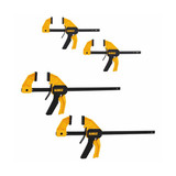 DeWALT DWHT83196 4-Pack Medium and Large Trigger Clamps