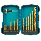 Makita T-03006 18 Pc HSS-TiN Drill Bit Kit
