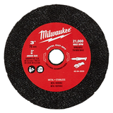 Milwaukee 49-94-3000 3In Metal Cut Off Wheel 3Pk