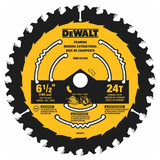 """DeWALT DWA161224 6-1/2"""" X 24T Circular Saw Blade"""