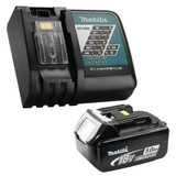 Makita Y-00309 Li-Ion Rapid Charger (DC18RC) + 1x 5.0Ah 18V Li-Ion Battery Combo Kit