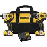 DeWALT DCK221F2 XTREME 12V MAX Brushless Cordless Drill and Impact Driver 2x 2.0Ah Kit