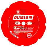 "Freud FRE-D1208DHC Diablo 12"" x 8-Tooth Polycrystalline Diamond (PCD) Tipped Fiber Cement Hardie Blade"