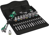 "Wera Tools WERA-05004016001 8100 SA 6 Zyklop Speed Ratchet Set, 1/4"" drive, Metric, 28 Pieces"