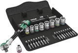 "Wera Tools WERA-05004046001 8100 SB 6 Zyklop Speed Ratchet Set, 3/8"" drive, metric, 29 Pieces"