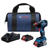 Bosch GDX18V-1800CB25 18V EC Brushless Connected-Ready Freak 1/4 In. and 1/2 In. Two-In-One Bit/Socket Impact Driver Kit with (2) CORE18V 4.0 Ah Compact Batteries