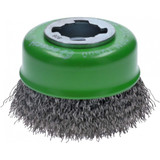 Bosch WBX319 3 In. Wheel Dia. X-LOCK Arbor Stainless Steel Crimped Wire Cup Brush