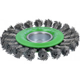 Bosch WBX429 4-1/2 In. Wheel Dia. X-LOCK Arbor Stainless Steel Full Cable Knotted Wire Wheel