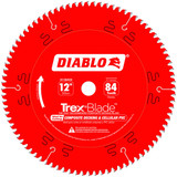 Freud FRE-D1284CDC Diablo TrexBlade 12 in. x 84 Tooth Composite Material / Plastics