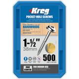 Kreg Tool KREG-SMLF150500 7X1-1/2 Zinc Fine Maxi-Loc Pocket-Hole Screws (QTY 500)