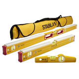 Stabila STAB-48296 48 in. 24 in. Mason Level and Torpedo Magnetic Level with Carrying Case