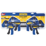 Irwin IRW-1964748 Quick-Grip Bar Clamp Set 6Inch + 12Inch - 4 Pack