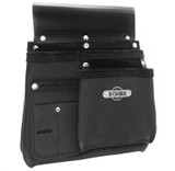 Buckaroo BUCK-NBS1B Leather 3 Pocket Nailbag - Black