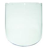 "MSA Safety MSA-10115851 V-Gard Propionate Clear, Molded Face Shield for Chemical & Splash (9.25"" x 18"" x 0.98"")"