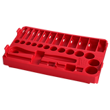 """Milwaukee 48-22-9481T 3/8"""" 28pc Ratchet and Socket Set in PACKOUT - SAE Tray"""