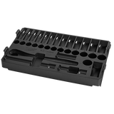 "Milwaukee MIL-48-22-9482T 3/8"" 32pc Ratchet and Socket Set in PACKOUT - Metric Tray"