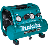 Makita MAC100Q Quiet Series, 1/2 HP, 1 Gallon Compact, Oil-Free, Electric Air Compressor